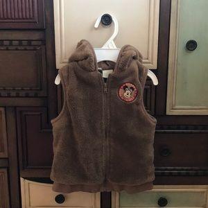 Baby boys vest hoodie